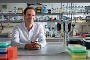 Der St.Galler Neurobiologe Johannes Gräff in seinem Labor am «Brain Mind Institute» der ETH Lausanne. (Bild: ETH Lausanne)