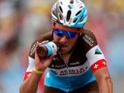 Silvan Dillier stürzte im Training und muss auf die Rennen in Kanada verzichten (Bild: KEYSTONE/EPA/SEBASTIEN NOGIER)