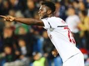 Franck Kessie feiert seinen Treffer zum 1:0 (Bild: KEYSTONE/EPA ANSA/SERENA CAMPANINI)