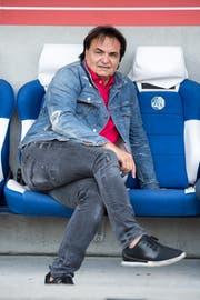 Der Präsident des FC Sion, Christian Constantin, beim Super League Meisterschaftsspiel zwischen dem FC Luzern und dem FC Sion vom Sonntag 30. September 2018 in Luzern. (Bild: Urs Flüeler/Keystone)