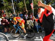 War auch in der «Hölle» nicht abzuhängen: Weltmeister Alejandro Valverde (Bild: KEYSTONE/EPA/DANIEL KOPATSCH)
