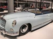 Der Isotta Fraschini von 1948 ist eines von mehr als hundert exklusiven Autos, die an der ersten Ausgabe der Grand Basel in museualem Ambiente präsentiert werden. (Bild: Martin Heutschi, Keystone-SDA)