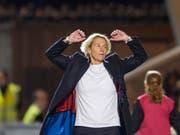 Die nach der Qualifikations-Kampagne scheidende Nationaltrainerin Martina Voss-Tecklenburg muss mit der Schweiz in die Overtime (Bild: KEYSTONE/AP Images/IAN RUTHERFORD)