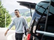 Lässt sich die Laune trotz Kritikern nicht verderben: Der Schweizer Mittelfeldstratege Granit Xhaka (Bild: KEYSTONE/ENNIO LEANZA)