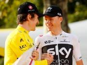 Verzichten auf die Weltmeisterschaften in Innsbruck: Chris Froome (rechts) und Geraint Thomas (links) (Bild: KEYSTONE/AP/LAURENT REBOURS)