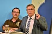 «Voreilig und zu teuer»: Die Volksvertreter Reto Gmür (SVP) und Luzi Schmid (CVP) wollen «keine tote Katze im Sack».