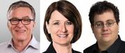 Kandidieren fürs Präsidium (von links): Hans Staub (CVP), Esther Rüttimann (FDP) und Stefan Thöni (Piratenpartei). (Bilder pd)