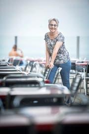 Isabella Szucher wirtet seit zehn Jahren als Geschäftsführerin der Seebad Gastro GmbH im Seebad-Restaurant in Romanshorn. (Bild: Reto Martin)