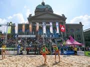 Der Bundesplatz bietet seit Jahren die Kulisse für das abschliessende Turnier der Schweizer Tour (Bild: KEYSTONE/ANTHONY ANEX)