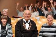 Am 29. April 2008 wurde Rymann an der Gemeindeversammlung Giswil einstimmig zum Ehrenbürger ernannt.. (Bild: Corinne Glanzmann)