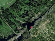 Im Gebiet Riseteflue im Entlebuch unterhalb der Blaue Tosse barg die Rega einen toten Wanderer. (Bild: search.ch)
