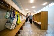 Garderoben vor einem Schulzimmer (Bild: Philipp Schmidli (Udligenswil, 7. September 2018))