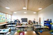Blick in ein Schulzimmer im Schulhaus Bühlmatt (Bild: Philipp Schmidli (Udligenswil, 7. September 2018))