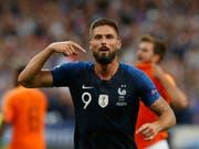 Olivier Giroud jubelt nach seinem entscheidenden Treffer gegen die Niederlande (Bild: KEYSTONE/AP/THIBAULT CAMUS)