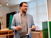 Der eigentliche Gewinner der Wahl: Schwedendemokraten-Chef Jimmie Akesson. (Bild: KEYSTONE/AP TT News Agency/STINA STJERNKVIST)