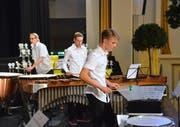 Die Perkussions-Ensembles bewiesen auch am 18. Ostschweizer Solisten- und Ensemblewettbewerb ihr Taktgefühl. (Bild: Christoph Heer)