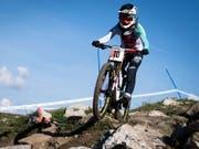 Emilie Siegenthaler fährt ein gutes WM-Rennen, doch die höher kotierten Konkurrentinnen patzen nicht (Bild: KEYSTONE/GIAN EHRENZELLER)