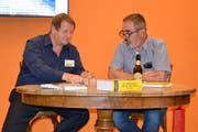 Hanspeter Müller-Dossaart (links) war bei Ruedi Bomatter zu Gast. (Bild: Georg Epp, Altdorf, 7. September 2018)