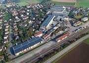 Das Pilotprojekt auf dem Dach des Holz- und Kartonverpackungsherstellers Wegmüller in Rickenbach-Sulz. (Bild: PD)
