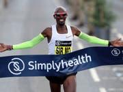 Im Halbmarathon von Newcastle kommt einmal mehr niemand an Mo Farah vorbei (Bild: KEYSTONE/AP PA/RICHARD SELLERS)