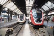 Die SBB gehen im Streit um die FV-Dosto-Züge auf Konfrontationskurs mit Hersteller Bombardier. (Bild: Ennio Leanza/KEY (Zürich, 26. Februar 2018))