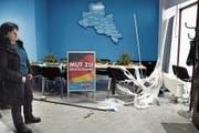 Vor einer Woche hatte es bereits einen Anschlag auf ein AfD-Büro im sächsischen Döbeln gegeben. (Bild: Matthias Rietschel/Reuters (3. Januar 2019))