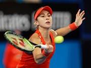 Belinda Bencic spielt sich im Hinblick auf das Australian Open in Melbourne in Form und steht beim Turnier in Hobart in den Halbfinals (Bild: KEYSTONE/AP/TREVOR COLLENS)