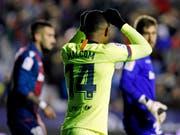 Der FC Barcelona um Malcom tat sich gegen Levante sehr schwer (Bild: KEYSTONE/AP/ALBERTO SAIZ)