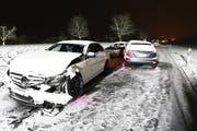 Drei Autos waren am Unfall beteiligt. (Bild: Luzerner Polizei)