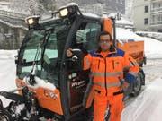 Philippe Debons vom Tiefbauamt der Stadt St.Gallen ist seit 3 Uhr auf den Beinen. (Bild: Daniel Walt)
