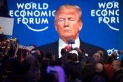 Der amerikanische Präsident am 26 Januar 2018 in Davos. (Bild: Keystone)