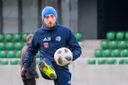 Mittelfeldspieler Valeriane Gvilia im Training mit dem FC Luzern in Kriens. (Bild: Martin Meienberger/Freshfocus (4. Januar 2019))