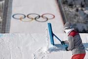 Austragungsorte für die Olympischen Spiele zu finden, wie hier im vergangenen Jahr in Pyeongchang, wird immer schwieriger. (Bild: Filip Singer/EPA (Pyeongchang, 21. Februar 2018))