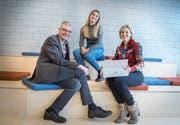 Andreas Schweizer, Kaira Erni und Chantal Roth. (Bild: Andreas Stalder)