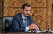 Der syrische Diktator Baschar al Assad. (EPA, Damaskus, 31. Oktober 2018)