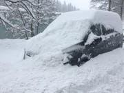 Der Besitzer dieses Auto im Riethüsli in St.Gallen wird vor der nächsten Fahrt einiges zu tun haben... (Bild: Daniel Walt)