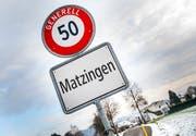 Ortstafel von Matzingen. (Bild: Andrea Stalder)