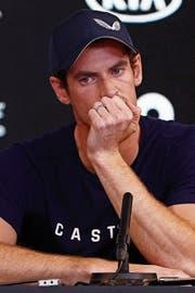 Brach während seinem Medienauftritt in Tränen aus: Andy Murray. (Bild: Pockett/AP (Melbourne, 11.1.2019))