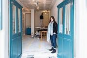 Verantwortliche Magdalena Lampart in der künftigen «Werkstatt». (Bild: Thomas Hary)