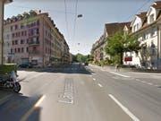 An dieser Stelle der Berner Länggassstrasse ereignete sich der Unfall. (Bild: GOOGLE STREET VIEW)
