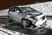 Der entstandene Schaden beim zweiten Fahrzeug. (Bild: Luzerner Polizei, 10. Januar 2019)