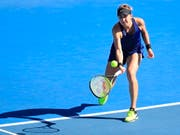 Belinda Bencic verpasste in Hobart den Einzug in ihren achten Final auf der WTA-Tour (Bild: KEYSTONE/EPA AAP/ROB BLAKERS)