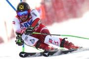 Marcel Hirscher gewinnt in Adelboden. (Bild: Marco Tacca/AP Photo (Adelboden, 12. Januar 2019))
