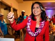 Will bei der US-Präsidentschaftswahl 2020 gegen Amtsinhaber Donald Trump antreten: die demokratische Abgeordnete Tulsi Gabbard aus Hawaii. (Bild: KEYSTONE/FR132414 AP/MARCO GARCIA)