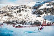 Der Buochser Marco Odermatt (im Bild) fuhr im zweiten Lauf die sechstbeste Zeit. (Bild: Jean-Christophe Bott/Keystone (Adelboden, 12. Januar 2019))