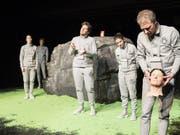 Das Theater Marie hat das Stück «Alles wahr» von Daniel Di Falco am 11. Januar 2019 in der Tuchlaube in Aarau uraufgeführt. (Bild: Andreas Zimmermann)