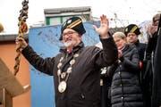 Das Zepter fest im Griff: Gallivater René Flad. (Bild: Roger Grütter, Kriens, 12. Januar 2018)