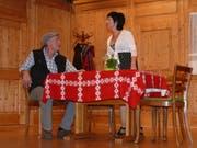 Unbeschwerte Heiterkeit gab es im Theater «D Wöschwyber». (Bild: Franz Steiner)