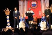 Prinz André II. Odermatt spricht im Theater Casino Zug zu seinem Fasnachtsvolk und den Gästen. (Bild: Bild Charly Keiser (12. Januar 2019))