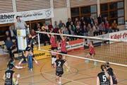 Trotz Satzführung musste sich Volley Toggenburg wie schon in der Vorrunde gegen Steinhausen geschlagen geben. Nun fällt die Entscheidung, ob es zum Einzug in die Finalrunde reicht, in der Schlussrunde. (Bild: Beat Lanzendorfer)